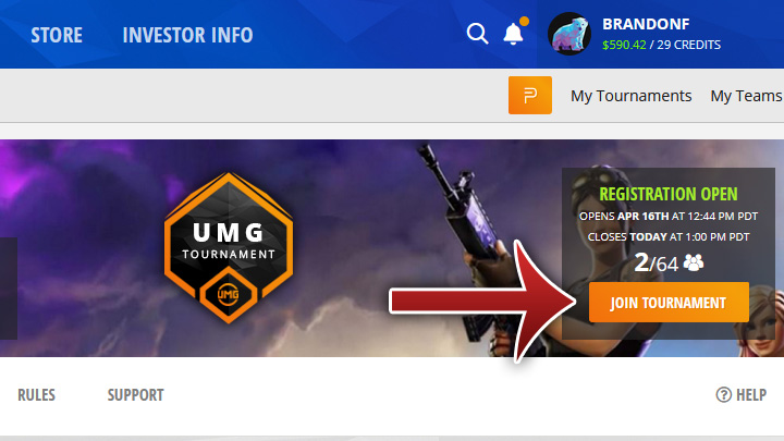 Umg Fortnite Rules Xbox Join A Tournament Umg Gaming