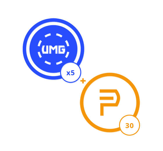 1 Month of Prime Membership and 5 UMG Credits