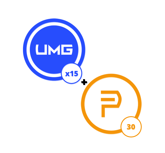 15 UMG Credits and 1 Month of Prime Membership